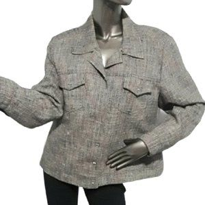 Miss Alliage Collection Coat in Size 16 in brown.